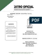 Reglamento Seguro Gral Riesgos Trabajo Resolucion CD 513