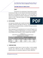 Informa Analisis Hidrologico