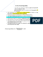 Protein Digestibility Method