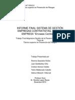 Informe Final Sst Ecsa PDF FINAL