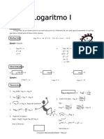 IV BIM - 3er. Año - ALG - Guía 6 - Logaritmo I
