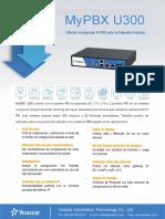 MyPBX U300 Datasheet Es