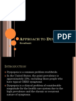 Approach to Dyspepsia