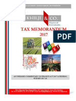Khilji Co Tax Memorandum 2017 18