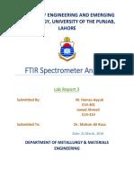 FTIR Spectrometer Analysis