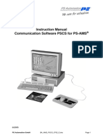PSCS communication software