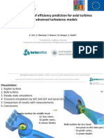 CFD 02 Jost Turboinstitut Improvement of Efficiency Prediction of Axial Turbines