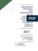 Lineamientos Educacion Distancia 2017