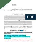 Note Aux Etudiants 2017 2018 (1)