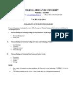 Vsureset-2014 Ph.d Programmes