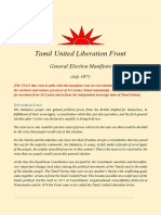 Tamil United Liberation Front - General Election Manifesto 1977