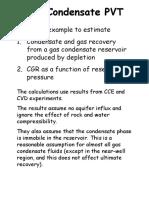 Gas Condensate PVT