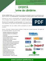 Oferta Platforme de Cantarit Paleti 11.2015