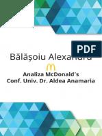 Analiza actiunilor McDonald's