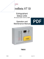FireBeta XT SI Status Unit Operation & Maintenance Manual TM