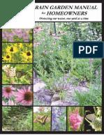 Rain Garden Homeowners Manual - Ohio