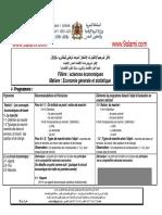 Cadre de Référence Pour LEconomie Générale Et Statistique SE 2014
