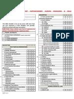 Post Partum-Nursery Knowledge & Skills Checklist
