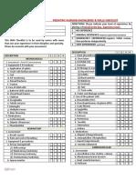 Pediatric Nursing Knowledge & Skills Checklist
