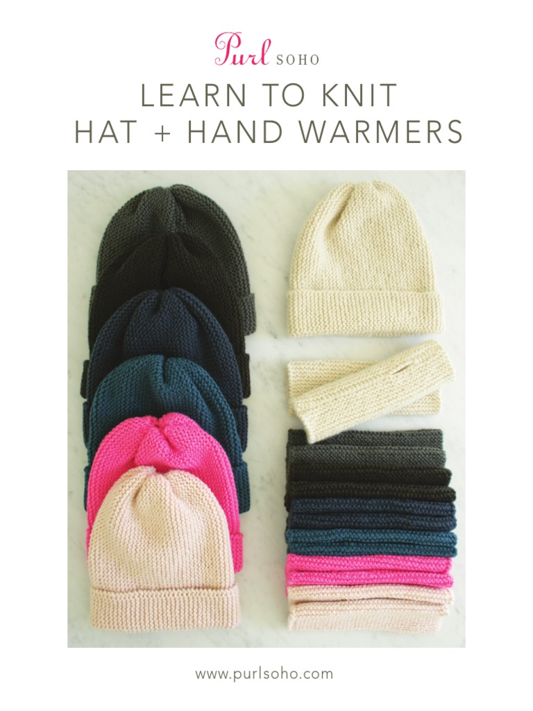0a3ff0c31e0 Purl Soho Hats Hand Warmers for Beginners