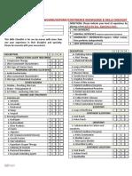 Wound Ostomy Continence Skills Checklist