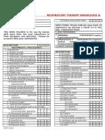 Respiratory Therapy Skills Checklist
