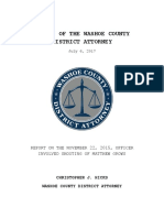 Report on the November 22, 2015 Officer-Involved Shooting of Matthew Grows