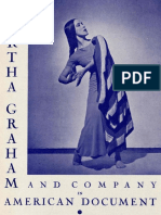 Martha Graham and Company in American Document, 1938