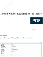 MMUP Online Registration Procedure