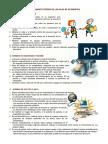 Reglamento Interno de Las Salas de Informática