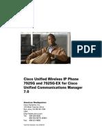 Cisco Unified Wireless IP Phone 7925G