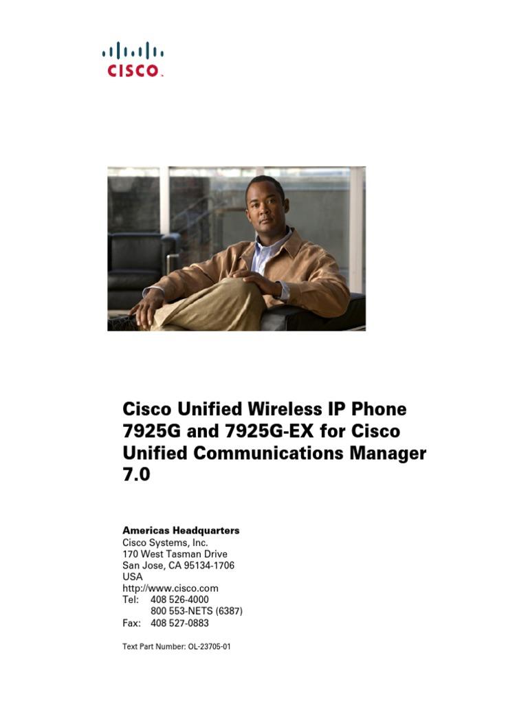 Cisco Unified Wireless IP Phone 7925G | Telephone | Usb