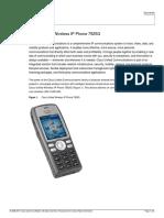 Cisco Unified Wireless IP Phone 7925G Data Sheet