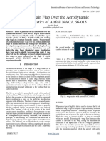 Effect of Plain Flap Over the Aerodynamic Characteristics of Airfoil NACA 66-015 (1)