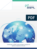 MPL - Challenges in ERP Implementation Projects for Global Companies