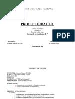 Proiect Didactic Anotimpurilepredare Cl. a Ia