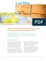 Person, Place, and Policy | Sault Ste. Marie's Alternative Energy Transformation