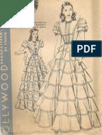 "Scarlett O'Hara ""Gone With the Wind"" Dress Pattern 1940"