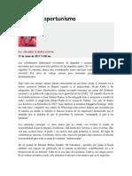 Contra El Oportunismo (Columna Orlando Oliveros)