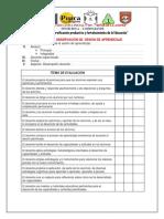 Guía de Observación de Sesion de Aprendizaje