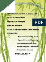 Ecología La Biósfera Tercer Grupo