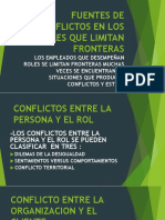 Fuentes de Conflictos en Los Roles Que Limitan