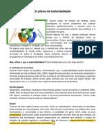Texto - Os Pilares Da Sustentabilidade