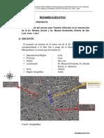 01.00 Resumen Ejecutivo Av. Nicolas Arriola - Jr. Salaverry