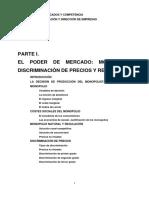 Parte I. El Poder de Mercado. Monopolio Discriminacion y Regulacionf
