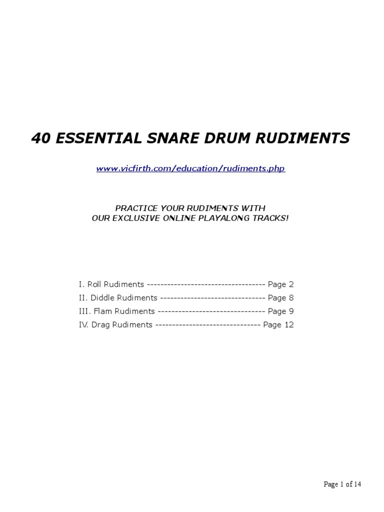 vic firth 40 snare drum musical compositions music theory. Black Bedroom Furniture Sets. Home Design Ideas