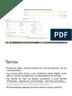 Toxicología - Taninos