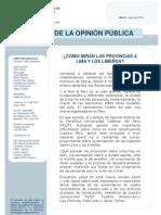 2010 Cómo miran las provincias a Lima y los limeños - Junio - Nacional