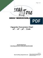 Capacitor Conversion Chart Texas Tone Blog