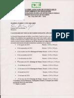 Calendario Visita Padres 2010-2011 Escuela Pablo Casals